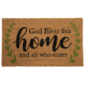 God Bless This Home Doormat