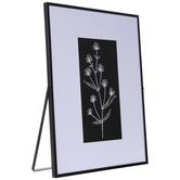 Black & White Flowers Framed Metal Decor