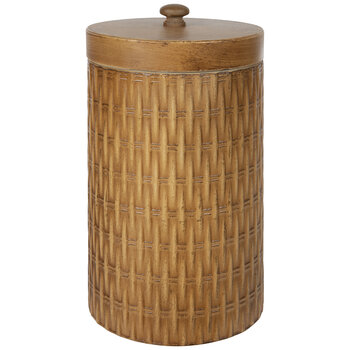 Wood Look Metal Canister