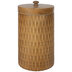 Wood Look Metal Canister - Large