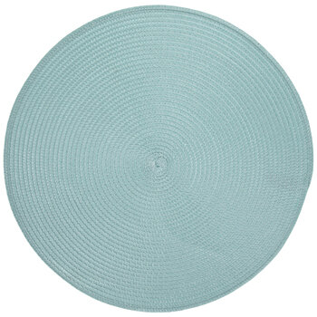 Frosty Blue Woven Round Placemat