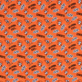Oklahoma State Allover Collegiate Cotton Fabric