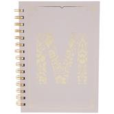 Pink & Gold Foil Letter Journal - M