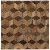Geometric Hexagon Wood Trivet