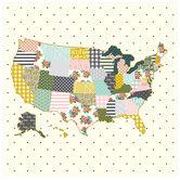 """Pattern & Polka Dot Map Scrapbook Paper - 12"""" x 12"""""""