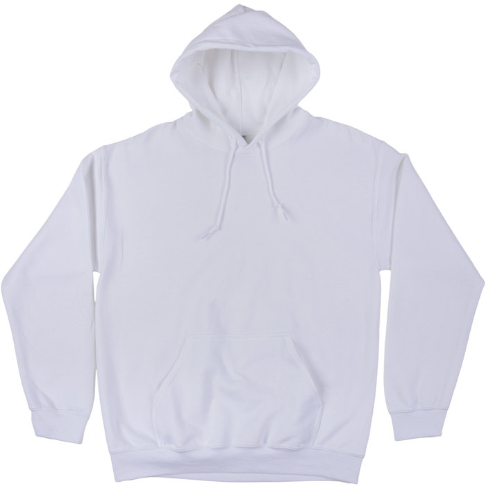 White Adult Hooded Sweatshirt XL