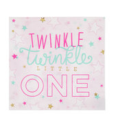 Pink Twinkle Twinkle Starry Napkins - Large