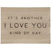 I Love You Wood Wall Decor
