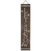 Let It Snow Double Sided Wood Wall Decor