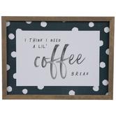 Coffee Break Polka Dot Wood Wall Decor