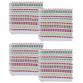 Green & Red Striped Kitchen Towels