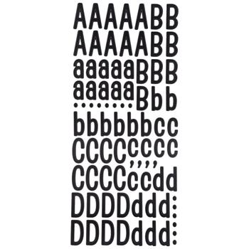 Black Patchwork Alphabet Stickers