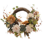 Pumpkin & Dahlia Wreath