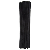 Black Chenille Stems - 6mm