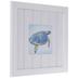 Blue Watercolor Sea Turtle Framed Wood Wall Decor