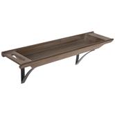 Rustic Tray Wood Wall Shelf