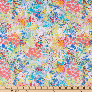 Multi-Color Paint Splatter Apparel Fabric