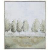 Soft Green Trees Wood Wall Decor