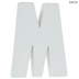White Wood Letters M - 2