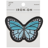 Blue Butterfly Iron-On Applique