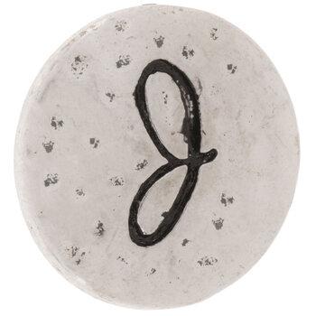 Hammered Alphabet Snap Charm - J