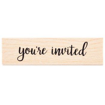 You're Invited Rubber Stamp