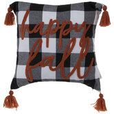 Happy Fall Buffalo Check Pillow