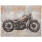 Motorcycle Canvas Wall Decor