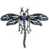 Plated Hematite Dragonfly Rhinestone Brooch