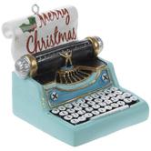 Merry Christmas Typewriter Ornament