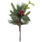 Frosted Pinecone & Bells Pick