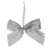 Silver Glitter Twist Tie Bows