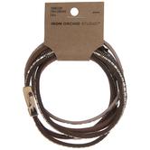 Textured Leather Wrap Bracelet