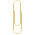 Gold Large Paper Clips