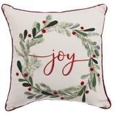 Joy Holly Wreath Pillow
