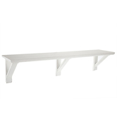 White Distressed Wood Wall Shelf