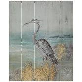 Bird On Shore Wood Wall Decor