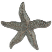 Antique Bronze Patina Starfish Metal Wall Decor