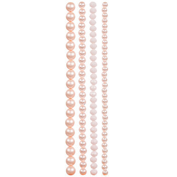 Pink Mixed Glass Bead Strands