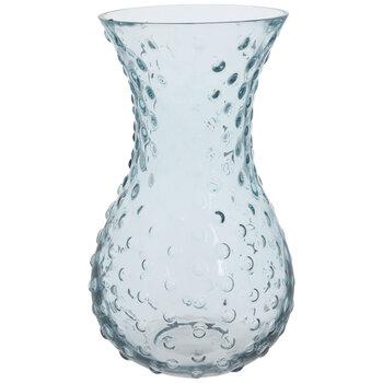 Light Blue Bubbled Glass Vase