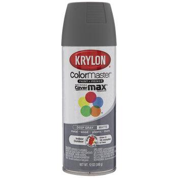 Deep Gray Krylon ColorMaster Matte Spray Paint & Primer