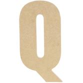 "Wood Letter Q - 5"""