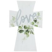 Love Galvanized Wood Cross