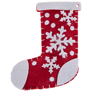 Red Plush Stocking Ornaments