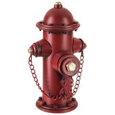 Fire Hydrant Metal Coin Bank