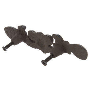 Dark Brown Flourish Metal Pull