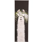 Llama & Flower Crown Canvas Wall Decor