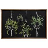 Hanging Plants Wood Wall Decor