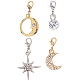 Moon & Star Lobster Clasp Charms