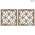 White Linked Circles Wood Wall Decor Set